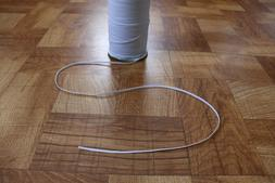 """10 Yards of 1/8"""" inch White Knitted Flat Stretch Elastic Mas"""