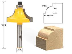 """Yonico 13174q Round Over Beading Edging Router Bit with 3/8"""""""