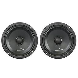 2) Audiopipe APMB-8SB-C 8 Inch 250W Low Mid Frequency Midwoo