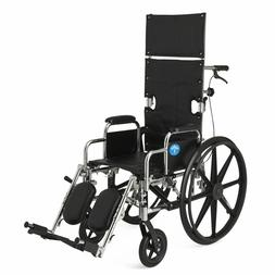 "Medline 20"" Excel Reclining Wheelchair # MDS808550 350 lb. C"