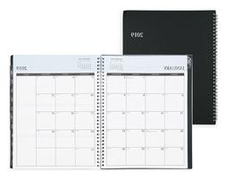 2019 Weekly & Monthly Planner, Flexible Cover, Twin-Wire Bin