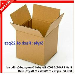 25 Pack 8 x 8 x 8 Cardboard Corrugated Box Packing Shipping