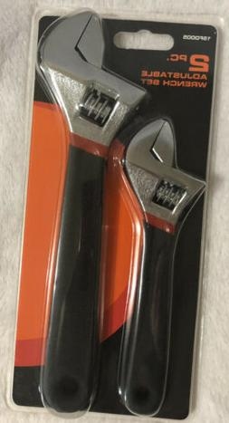 """2pc 6"""" & 8"""" Inch Adjustable Wrench  NEW"""