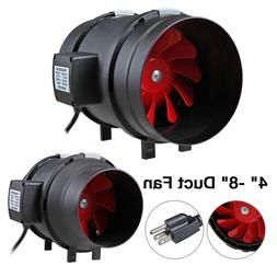 "4"" 6"" 8"" inch Inline Duct Ventilation Vent Blower Plastic Fa"