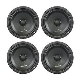 4) Audiopipe APMB-8SB-C 8 Inch 250W Low Mid Frequency Midwoo