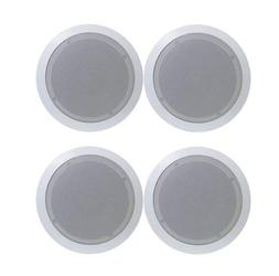 """4) PYLE PDIC81RD 8"""" 1000W Round Wall And Ceiling Home Speake"""
