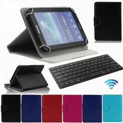 "7"" 8"" 10 10.1"" inch Keyboard Leather Stand Case Cover For An"