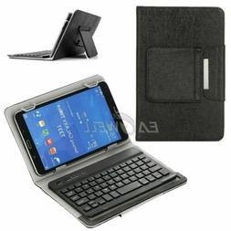 "7""-8"" inch Universal Leather Cover Case Micro USB Keyboard F"