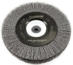 Forney 72897 Wire Bench Wheel Brush, Industrial Pro Crimped