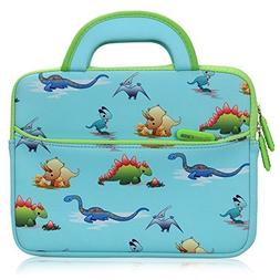 8.9 - 10.1 inch Kid Tablet Sleeve, Evecase Cute Dinosaurs Th