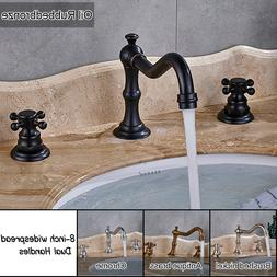 8-inch Widespread Bathroom Faucet Basin Mixing Tap Dual Cros