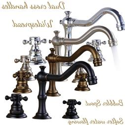 8-inch Widespread Deck Mount Bathroom Faucet Basin Mixer Tap