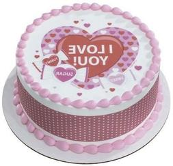 "8"" Round ~ Sweet Candy Valentine's Day ~ Edible Cake/Cupcake"