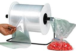 "Bauxko 8"" x 12"" Poly Bags on a Roll, 2 Mil, Roll of 1000"