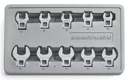 GearWrench 81909 10 Piece Metric Crowfoot Wrench Set