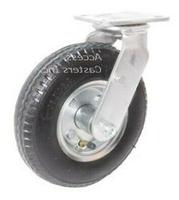 "8PPNTS 8"" x 2"" Swivel Plate Caster Pneumatic Wheel, 295 lb C"