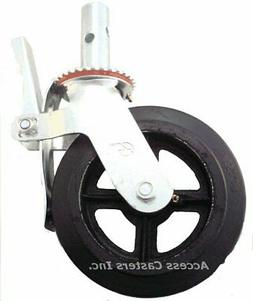 "8UC8RB 8"" Scaffold Swivel Caster, Total Lock Brake, Rubber o"