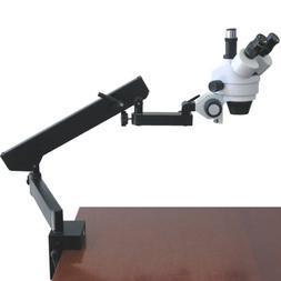 AmScope 3.5X-45X Trinocular Articulating Zoom Microscope wit