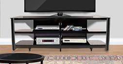 """Innovex TPT73G29 Oxford Fold N Snap 73"""" Glass Tv Stand for"""