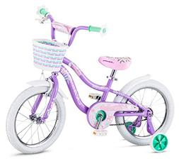 "Schwinn Jasmine Kids Bicycle 16"" wheel size, age 4 to 7 with"
