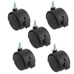 Uxcell a15042400ux0064 Thread Stem Caster Wheels 2 inch Twin