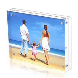 """Niubee Acrylic Picture Frames 6x8"""", 20% Thicker Double Sided"""