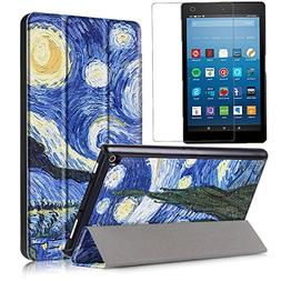 All-New Amazon Fire HD 8 Case 2017  + Screen Protector, Gzer