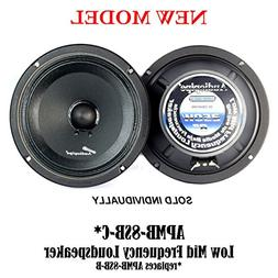 "Audiopipe APMB-8SB-C 8"" 250 Watts Max Power Midrange Speaker"
