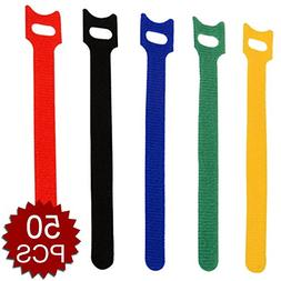 assorted reusable fastening wrap cable