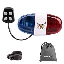 Oumers Bicycle Police Sound Light, Bike LED Light Electric H
