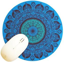 """Michel Bujardet Blue Persia 8"""" Round Mousepad by Oriental Tr"""