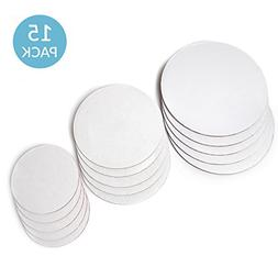 Upper Midland Products Cake Boards - Set of 15 White Cake ci