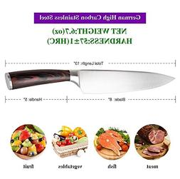 Chef Knife,Pro Kitchen 8 inch Chef's Knife High Carbon Stain