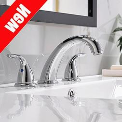 Chrome Widespread Bathroom Sink Faucet 8 Inch 3 Pieces Two H