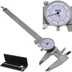 "Anytime Tools Dial Caliper 8"" / 200mm DUAL Reading Scale MET"