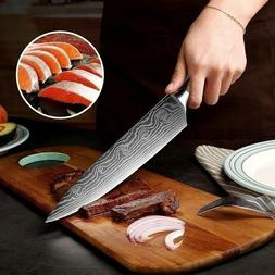 FIRE Chef Knife 8 Inch Stainless Steel Damascus Kitchen Prof