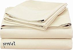 "Fits Mattress Up to 8"" Inches Depth Sheet Set 4 PCs 100% Egy"