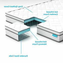 Queen Size Hybrid Mattress Innerspring Full Twin King Comfor