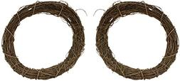 Natural Grapevine Wreath - 8 Inch Diameter - Set of 2