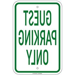 """Guest Parking Only Sign 8""""x12"""" Aluminum Signs Retail Store"""