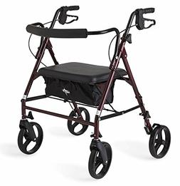 """Medline Heavy Duty Bariatric Mobility Rollator with 8"""" Del"""