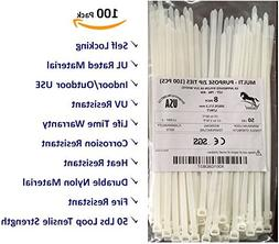 Heavy Duty Industrial Strength Self Locking Cable Zip Ties,