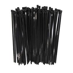 Heavy Duty Zip Ties Black 8 Inch Wide 4.8mm Nylon Self-locki