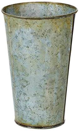 Home Source French Antique Gray-5.25 x 8 inches Metal Bucket