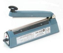 "8"" Impulse Poly Bag Hand Sealer - 6 mil thickness - 2mm widt"