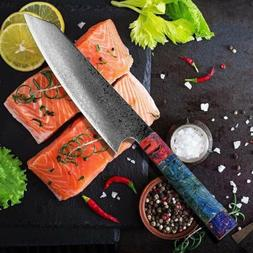 JAPANESE 8 INCH VG10 67 LAYER DAMASCUS CHEF KITCHEN KNIFE WO
