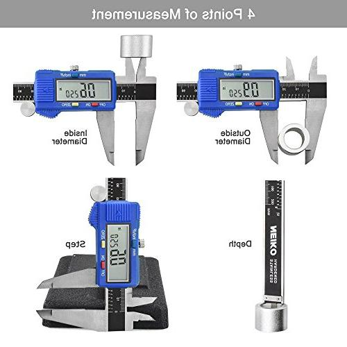 """Neiko Electronic Caliper with Extra Large LCD Screen, 10.9"""", Clear"""