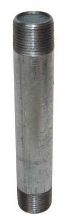"1-1/2"" x 8"" MNPT Threaded Galvanized Steel Pipe Nipple"