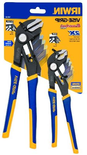 Irwin Piece GrooveLock 8-Inch and Straight Pliers Set