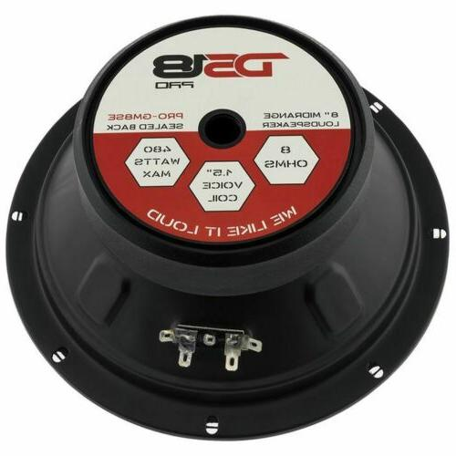 DS18 8 Inch Sealed Back Loud 8-Ohms - Max